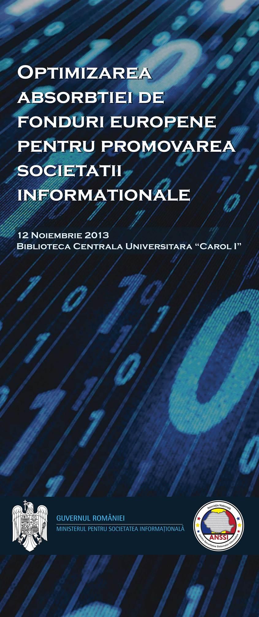 Optimizarea absorbtiei de fonduri europene pentru promovarea societatii informationale